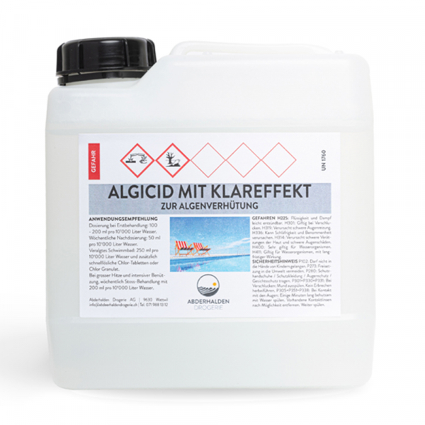 Algicid mit Klareffekt